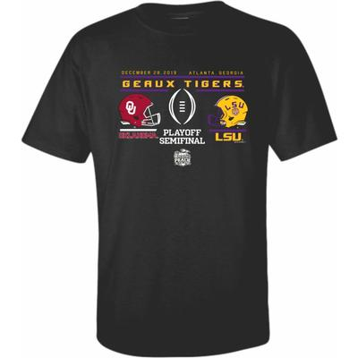 LSU CFP Face Off Short Sleeve Tee Shirt