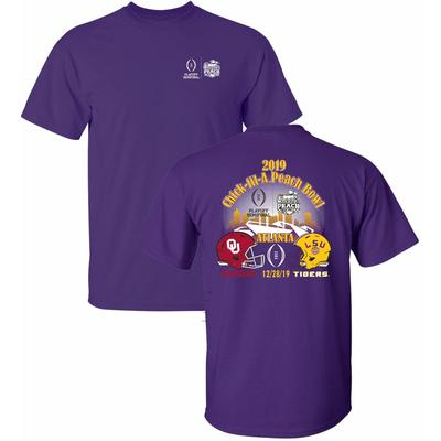 LSU College Football Playoff Helmet to Helmet Tee Shirt
