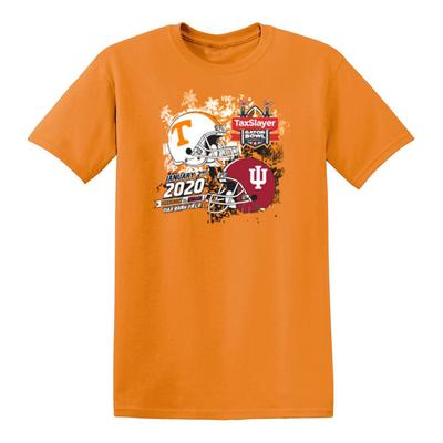 2020 Tennessee vs Indiana Gator Bowl Short Sleeve Match Up Tee