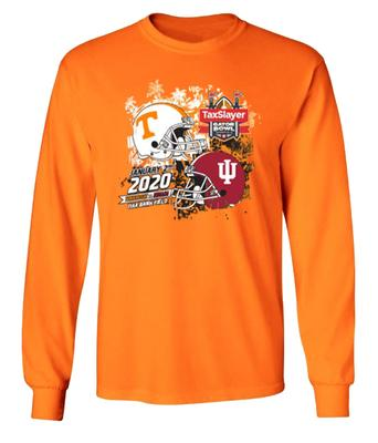 2020 Tennessee vs Indiana Gator Bowl Long Sleeve Match Up Tee
