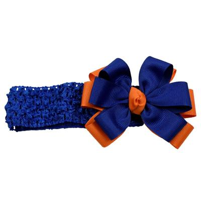 Florida Orange and Blue Crochet Headband