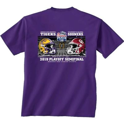LSU Helmet to Helmet Playoff Short Sleeve Tee Shirt