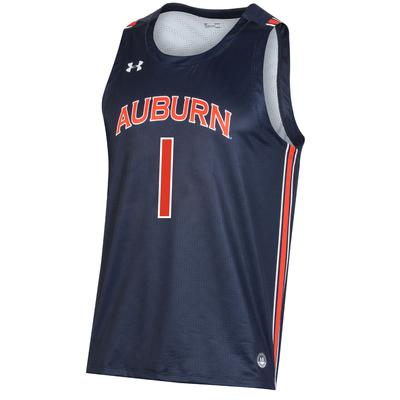 Auburn #1 Under Armour Replica Basketball Jersey