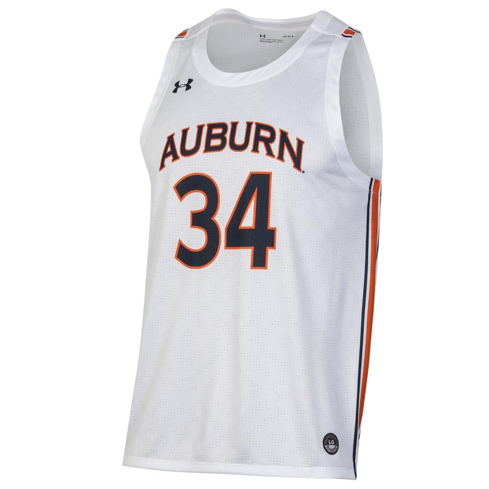 Auburn # 34 Under Armour Replica Basketball Jersey
