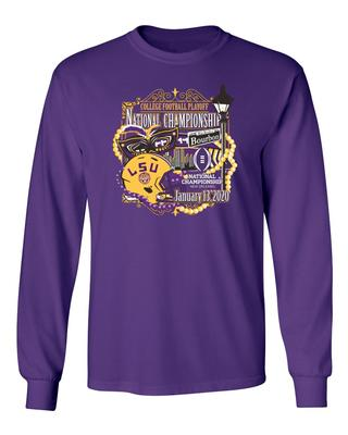 LSU Tigers 2020 National Championship Bound Long Sleeve Tee