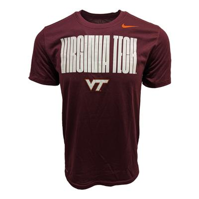 Virginia Tech Nike Legend Logo Dri-Fit T-Shirt