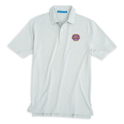 LSU National Champions Southern Tide Gameday Striped Polo