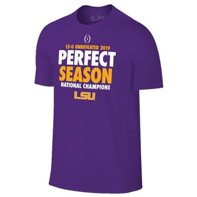 LSU Perfect Season National Champions Short Sleeve Tee
