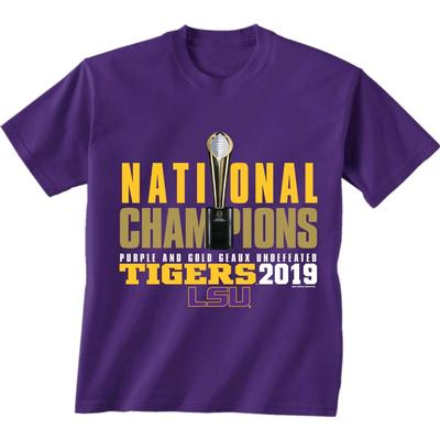 LSU National Champions Purple and Gold Short Sleeve Tee