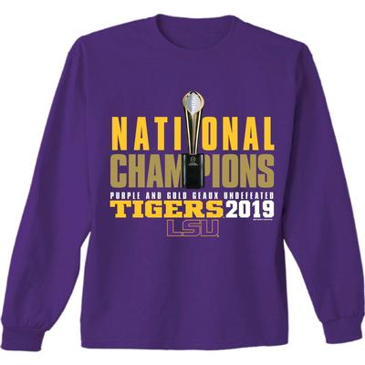LSU National Champions Purple and Gold Long Sleeve Tee