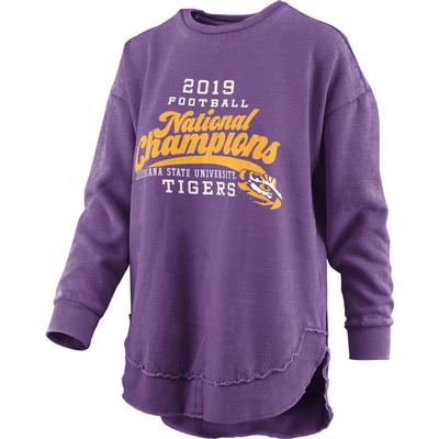 LSU National Champions Pressbox Champ Pride Vintage Wash Fleece