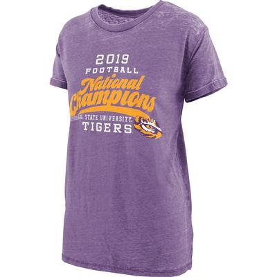 LSU National Champions Pressbox Champ Pride Vintage Wash Short Sleeve Tee
