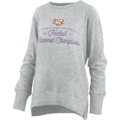 LSU National Champions Pressbox Carter Cuddle Knit Sweater
