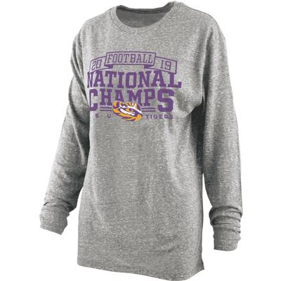 LSU National Champions Pressbox Big Time Knobi Long Sleeve Tee