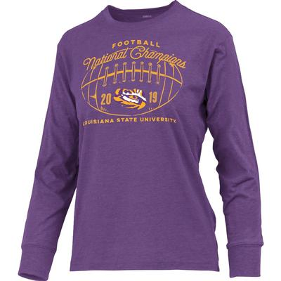 LSU National Champions Anderson Melange Long Sleeve Tee