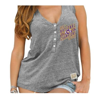 LSU National Champions Henley Tank Top