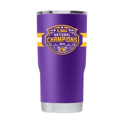 LSU 2019 National Champions 20oz Purple GTL Tumbler