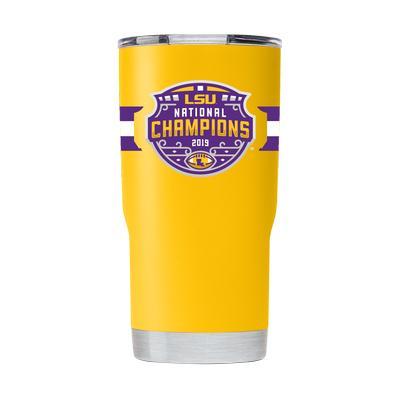 LSU 2019 National Champions 20oz Yellow GTL Tumbler