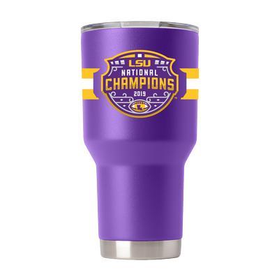 LSU 2019 National Champions 30oz Purple GTL Tumbler