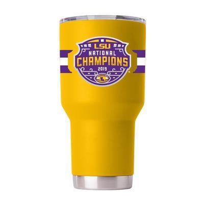 LSU 2019 National Champions 30oz Yellow GTL Tumbler