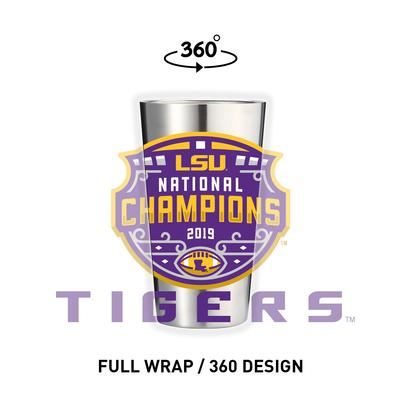 LSU 2019 National Champions 16oz Stainless Steel Pint Glass