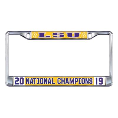 LSU 2019 National Champions License Plate Frame