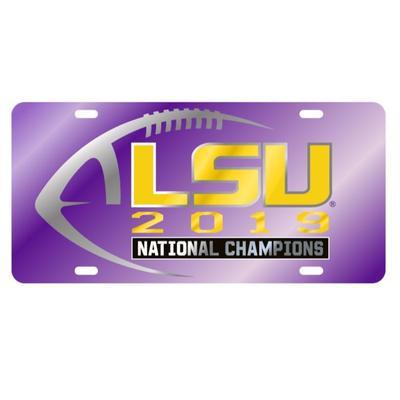 LSU 2019 National Champions Purple License Plate