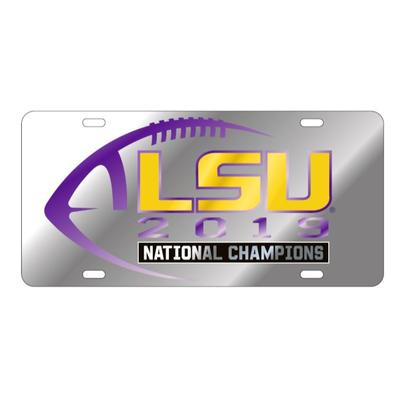 LSU 2019 National Champions Silver License Plate