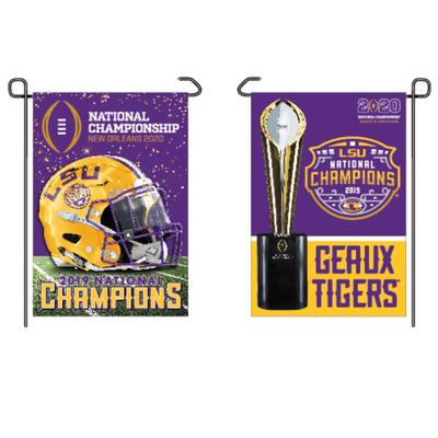 LSU 2019 National Champions Two Sided Garden Flag