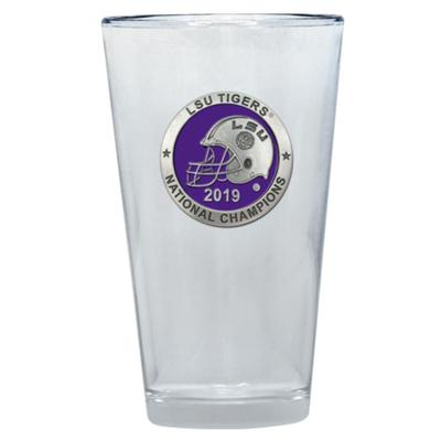 LSU 2019 National Champions Heritage Pewter Pint Glass