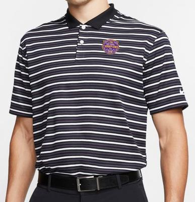 LSU 2019 National Champions Nike Golf Victory Stripe Polo