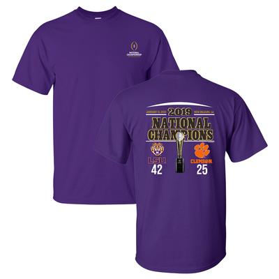 LSU 2019 National Champions Score Short Sleeve Tee