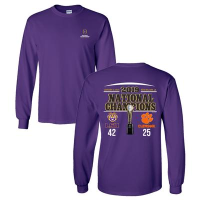LSU 2019 National Champions Score Long Sleeve Tee