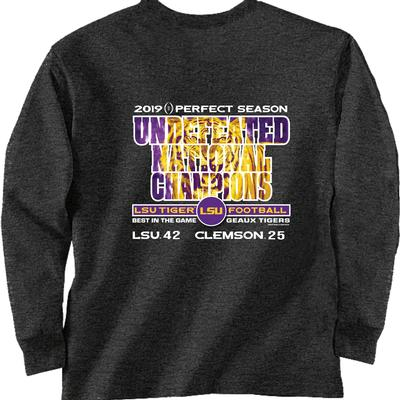 LSU National Champions Perfect Season Score Long Sleeve Tee