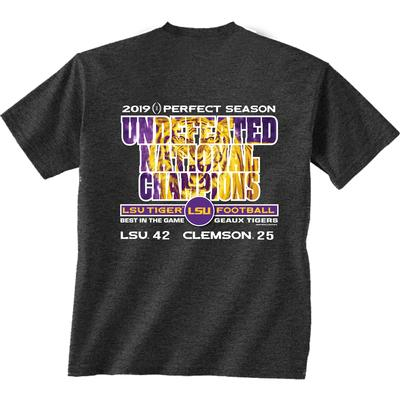 LSU National Champions Perfect Season Score Short Sleeve Tee
