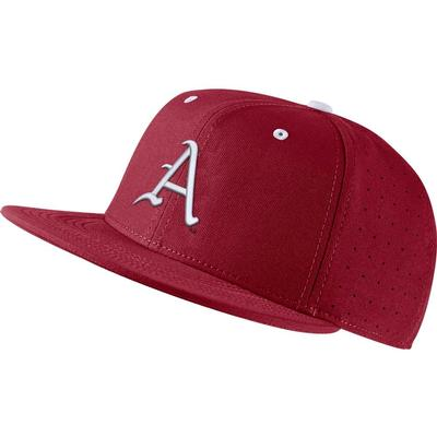 Arkansas Nike Aerobill Baseball Fitted Hat TEAM_CRIMSON