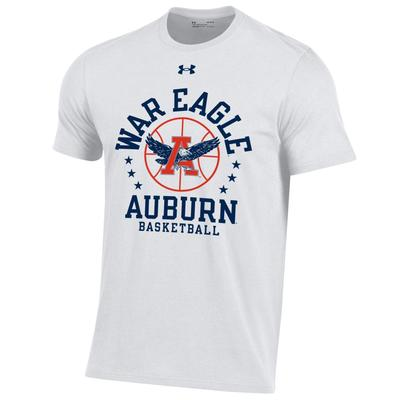 Auburn Under Armour War Eagle Basketball Short Sleeve Tee
