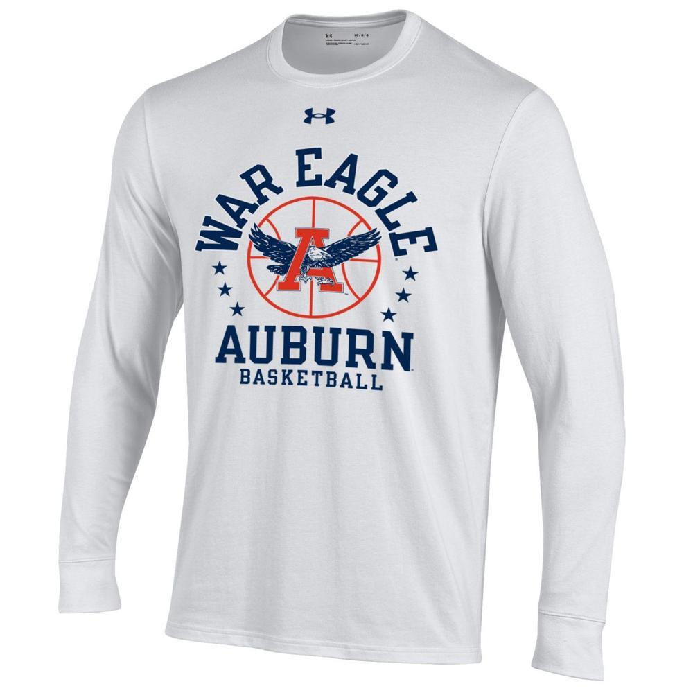 Auburn Under Armour War Eagle Basketball Long Sleeve Tee