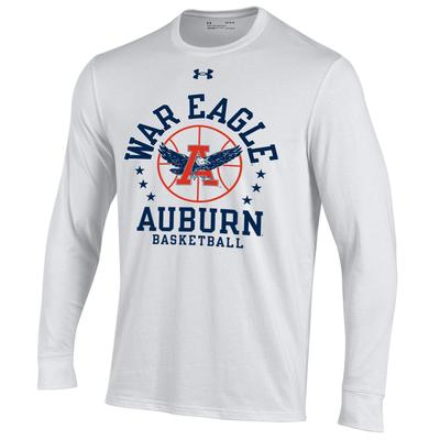 Auburn Under Armour War Eagle Basketball Long Sleeve Tee