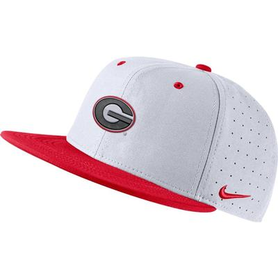 Georgia Nike Aero Fitted Baseball Cap