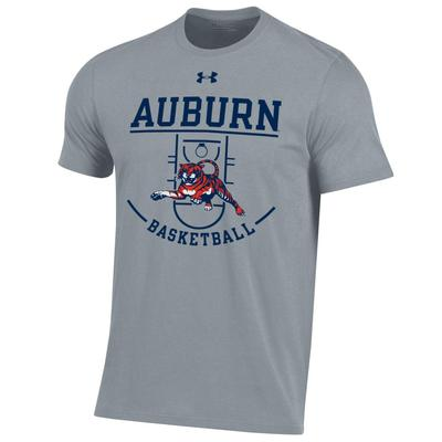 Auburn Under Armour Tiger Basketball Court Short Sleeve Tee