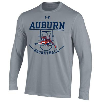 Auburn Under Armour Tiger Basketball Court Long Sleeve Tee