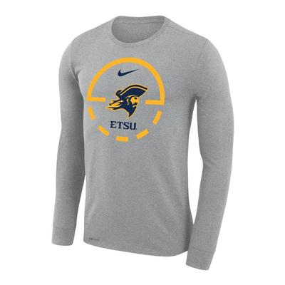 ETSU Nike Court Logo Dri-Fit Legend Long Sleeve Tee