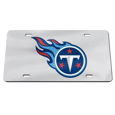 Tennessee Titans Stainless Steel License Plate