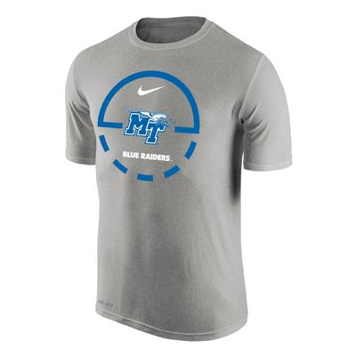 MTSU Nike Court Logo Dri-Fit Legend Tee
