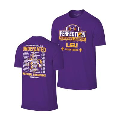 LSU National  Champion Perfect Season SS Tee Shirt