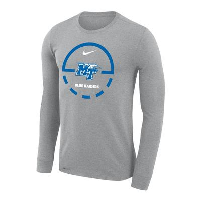 MTSU Nike Court Logo Dri-Fit Legend Long Sleeve Tee
