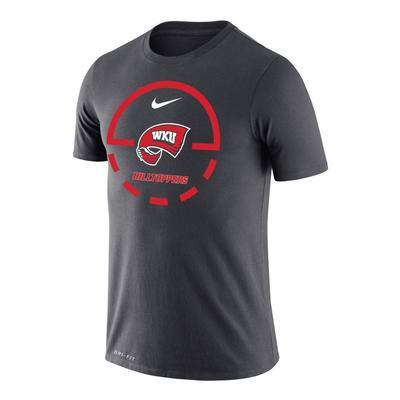 Western Kentucky Nike Court Logo Dri-Fit Legend Tee