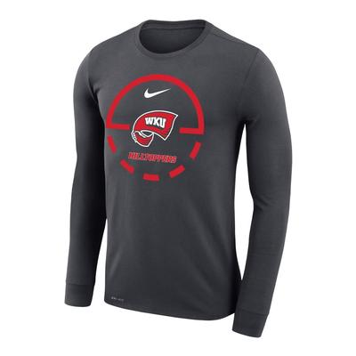 Western Kentucky Nike Court Logo Dri-Fit Legend Long Sleeve Tee