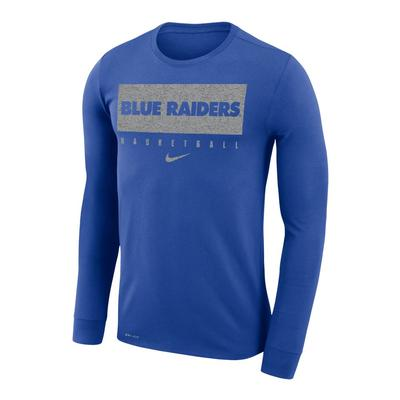 MTSU Nike Practice Legend Basketball Long Sleeve Tee